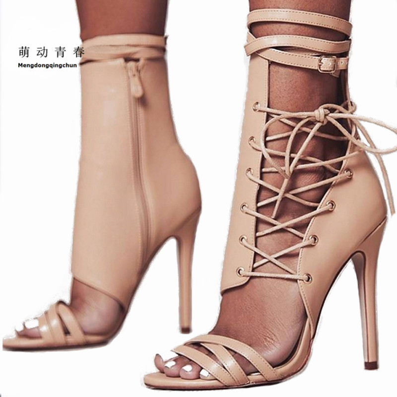 Women Sandals 2018 Fashion Summer Gladiator Sandals Woman Shoes Lace Up Ankle Strap High Heels Party Shoes Sapatos women sandals fashion low heels sandals for summer shoes woman ankle strap flats sandals shoes soft bottom casual shoes 35 44