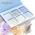 2017 New Cosmetics 6 Shade Metallic Silver Pink Powder Highlighters Kit Drop Shipping Intense Easy To Wear Brightening Glow Set
