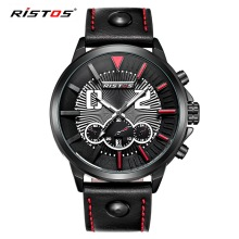 RISTOS High Quality Brand Sports Men Watches Quartz Watch Mens Top Luxury Casual Wristwatches relogios masculino erkek kol saati