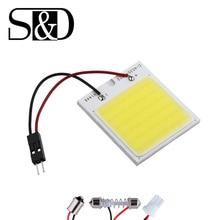 COB 48 Чип светодиодный светильник для салона автомобиля T10 Festoon Dome ba9s автомобильный светильник источник 12 В W5W C5W Автомобильный светодиодный светильник для чтения D45