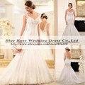 Vestido De Noiva 2015 Luxo Sereia Backless Atractivos Vestidos de Novia Sirena Bling Casado Romántico Vestido de Casamentos