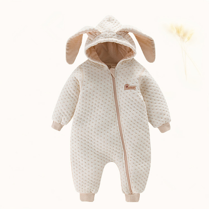 Baby Boys clothing Girls Cotton Romper Large Ear Rabbit Overall Outfit Newborn Rompers Fall Infant jumpsuits boy Clothes 0 12m autumn cotton baby rompers cute cartoon clothing set for baby boys infant girls clothes jumpsuits foot coveralls romper