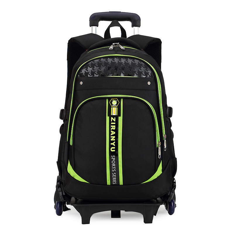 6 wheels Removable Trolley school Backpack Children school bags Boys Kids Can climb stairs Wheeled Schoolbag Mochilas Escolares-in School Bags from Luggage & Bags    1