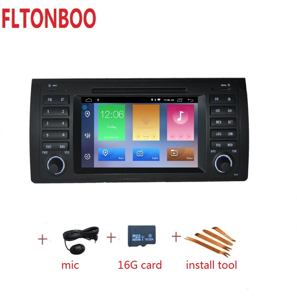 7 Android 9 Car GPS Navigation radio dvd player for bmw E39 X5 M5 E53 Canbus