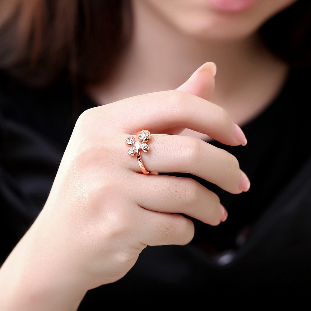 Cute Animal Rings For Women Austrian Crystals Ring Gold color CZ ...