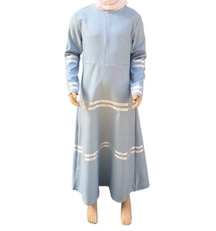 10-16Years 2017 latest design muslim kids clothes fashion teenager young girl dress islamic turki muslim dress ramadan 2