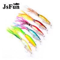 JSFUN 6 pz di Alta Qualità Realistica Polpo Squid Jig Fishing Lure 23 cm/40g 6 Colori Disponibili Da Pesca esca con Gancio Alti FU360