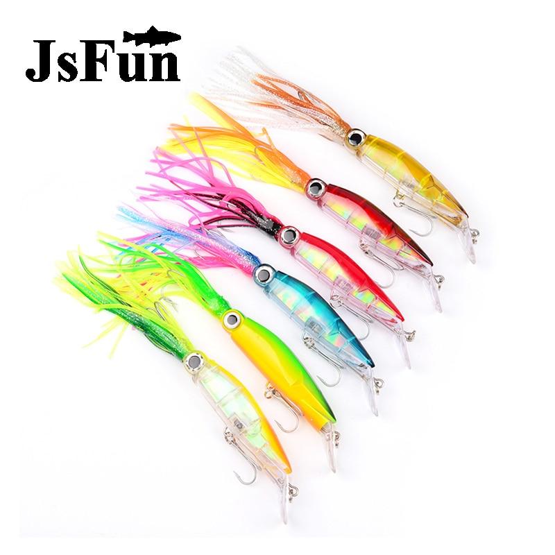JSFUN 6pcs High Quality Lifelike Octopus Squid Jig Fishing Lure 23cm/40g 6 Colors Available Fishing Bait with Treble <font><b>Hook</b></font> FU360