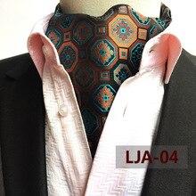 6cf6ca156a50 New Silk Men Vintage Polka Dot Plaid Wedding Formal Cravat Ascot Scrunch  Self British style Gentleman Polyester Neck Tie Luxury
