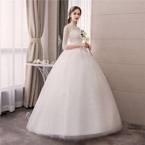 Image 5 - EZKUNTZA ลูกไม้คอสูง 2019 ชุดแต่งงานใหม่แฟชั่น Slim เย็บปักถักร้อย Backless PLUS ขนาดที่กำหนดเองชุดเจ้าสาว Robe De mariee