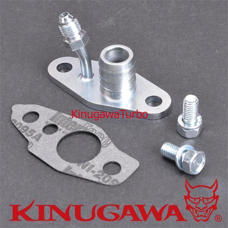 Kinugawa Flangia Kit Turbo Oil Feed di Ritorno Mangimi 4AN 3/4