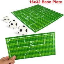 32*16 futbol basketbol tabanı plakası uyumlu Legoe rakamlar sahası taban plakası DIY yapı taşları tuğla oyuncaklar çocuk hediyeler için