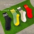 Женские носки Цвет стекла шелковые носки женщин две полосы серии
