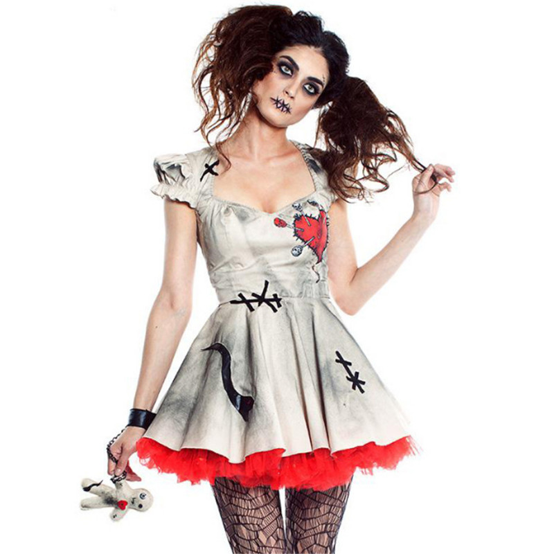 Halloween Scary Female ghost Costumes Ghost Bride Cosplay Costume Sexy Zombie Role playing dress terror Day of the Dead Clothing