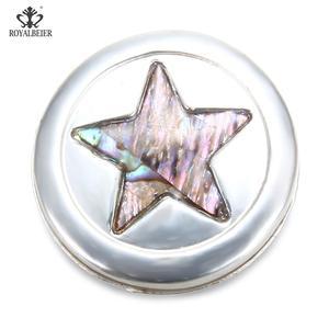 Image 1 - Star Carved Rhinestone Inlaid Powerful Magnet Buckle Retro Muslim Magnet Pin Ladies Dress Brooch DIY Magnetic Needle