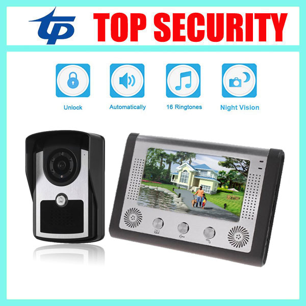 Good quality 7inch color screen IP65 waterproof out door IR camera wired door bell access control system villa video intercom exported quality screen printing frame 7 5x10 inch 19x25cm wholesale price door to door