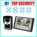 Good quality 7inch color screen IP65 waterproof out door IR camera wired door bell access control system villa video intercom