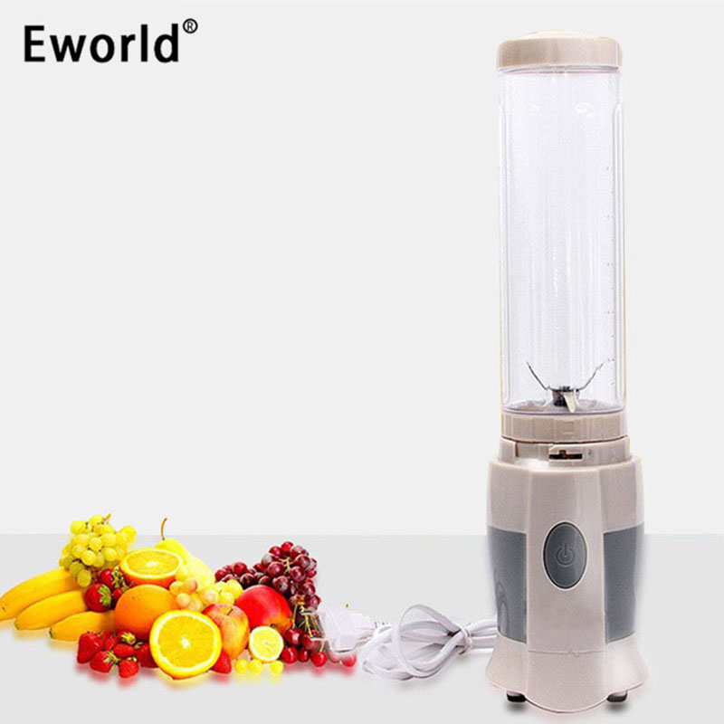 Eworld 1pcs / lot Plug Shake N Prendre Juicer Blender Machine Multifonctionnel Mini Électricité Juicer Pocket Sports Juice Bouteille Coupe