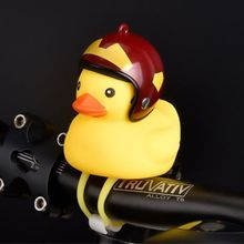 Funny Yellow Duck Bicycle Bell Ring For Car Cycling Bike Ride Horn Alarm Adult Kids Toy  Y51E