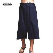 Baumwolle Leinen Männer Beiläufige Kurze Hose Sommer Neue Mode Kurze Hosen große Größe Männer/Frauen Rock Hose Männlichen Breiten Bein Kurze Harem hosen