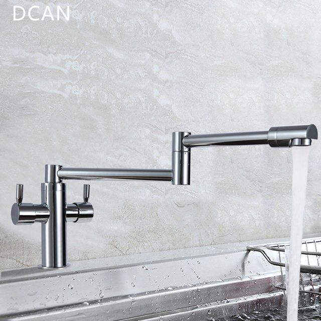 Aliexpress Com Buy Dcan Kitchen Faucets Kitchen Sink Faucets Dual