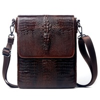 New Arrival High Quality 100 Genuine Leather Bag For Men Crocodile Style Men S Business Messenge