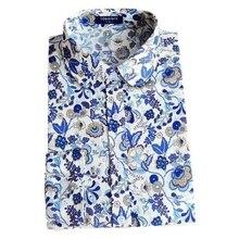 Fashion Floral Long Sleeve Vintage Blouse Cherry Turn Down Collar Shirt Blusas Feminino Ladies Blouses