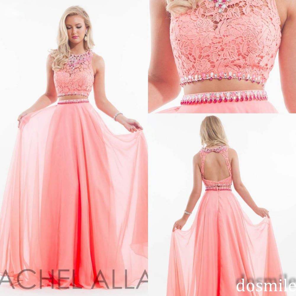 Popular Pink and White Two Piece Prom Dresses-Buy Cheap Pink and ...