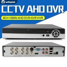 8-КАНАЛЬНЫЙ 1080N AHD DVR NVR HVR Для HD CCTV Аналоговой Сети Камеры безопасности Поддержка P2P Облако HDMI/VGA Выход XMEye Onvif Системы ВИДЕОНАБЛЮДЕНИЯ