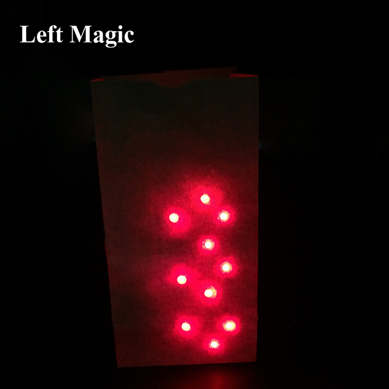 Bag O Lites Light Up ( Include Finger ) Light Magic Tricks Red/Blue Light For Close Up Magic Toy Mentalism Bar Show Illusion