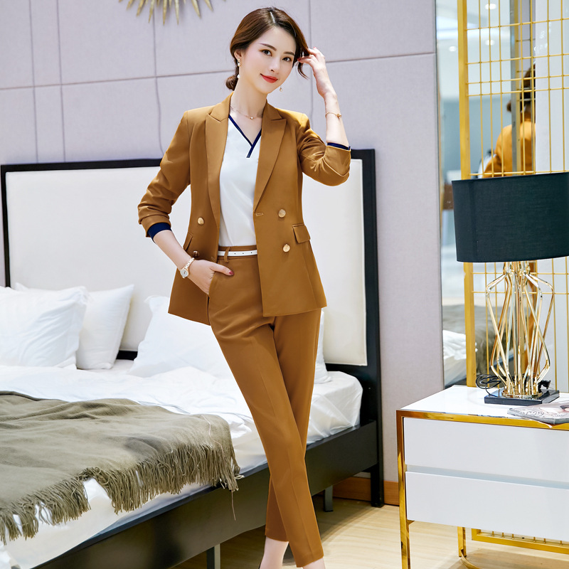 Back To Search Resultswomen's Clothing New Women Business Suits Blue Womens Pants Suit Slim Fit Suit Jackets With Pants Office Ladies Formal Ol Pants Work Wear Suits Unequal In Performance