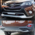 Full set Front and Rear Bumper Protector covers with DRL for TOYOTA RAV4 2013 2014 2015