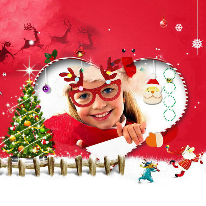 Christmas New Year Gifts Children Santa Claus Deer Snowman Glasses
