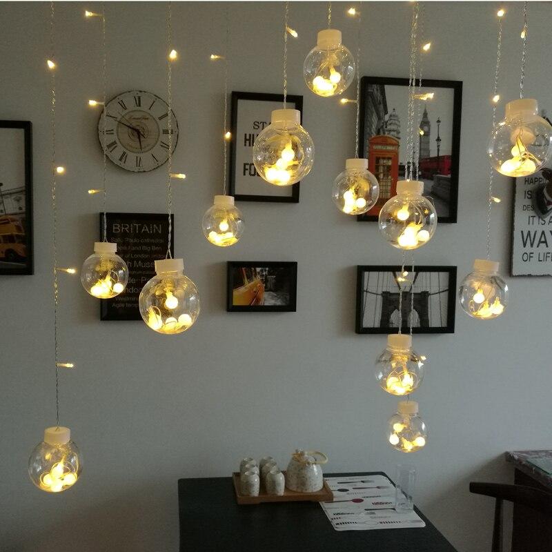 Christmas Room firefly <font><b>led</b></font> star <font><b>lights</b></font> string bedroom curtain ins <font><b>decorative</b></font> chandelier romantic color
