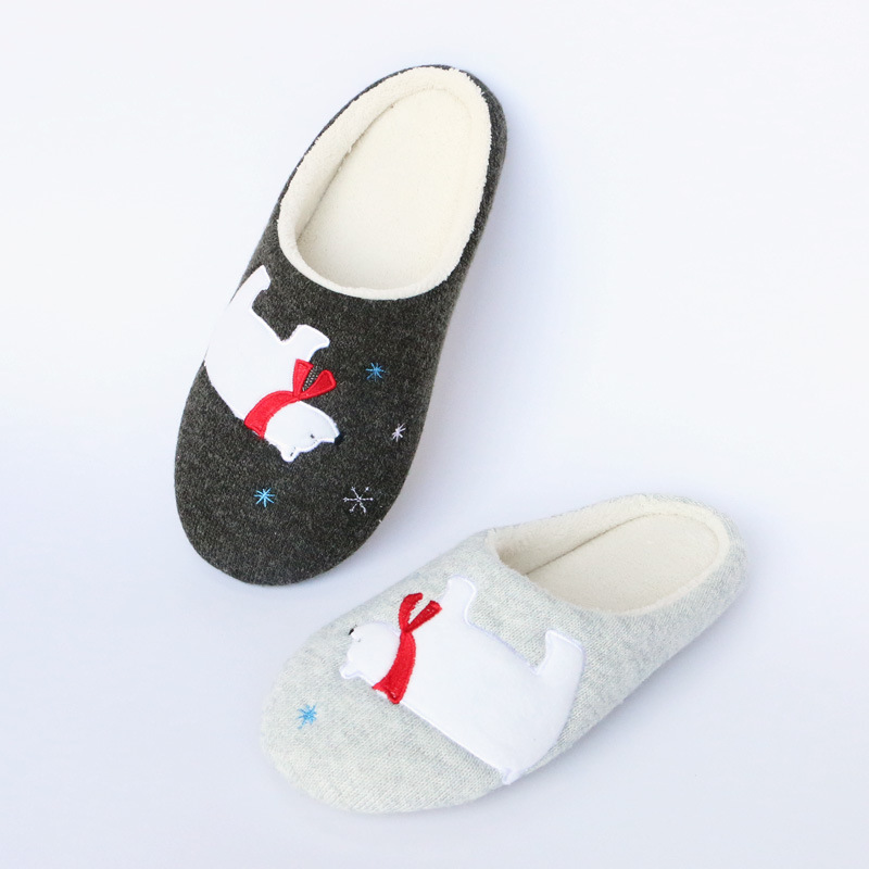 Polar Bear Cotton Slippers Home Slippers Women Cotton Tow