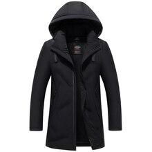 Hombres abrigo nieve parkas calientes hombres marca ropa invierno Chaqueta Hombre prendas de abrigo de alta calidad 80% de pato blanco grueso chaquetas