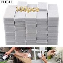 100PCS White Magic Sponge Eraser Melamine Cleaner Multi-Functional Kitchen Bathroom Cleaning Tools Nano Sponge New Arrival