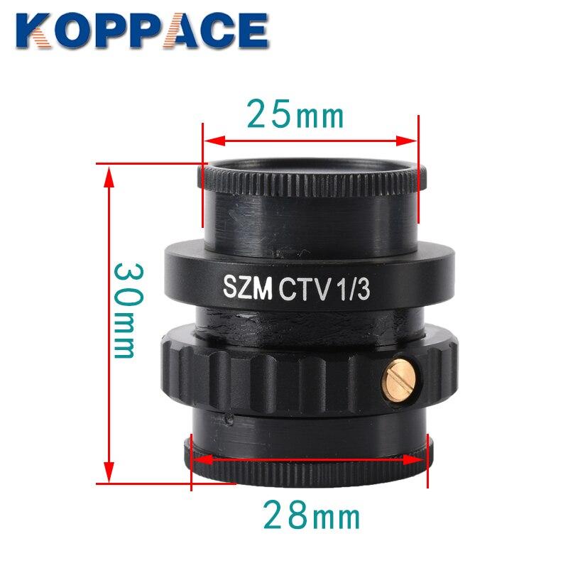 KOPPACE Microscope lens C mount Lens 1 3 CTV For Trinocular Stereo Microscope 25mm Camera Interface