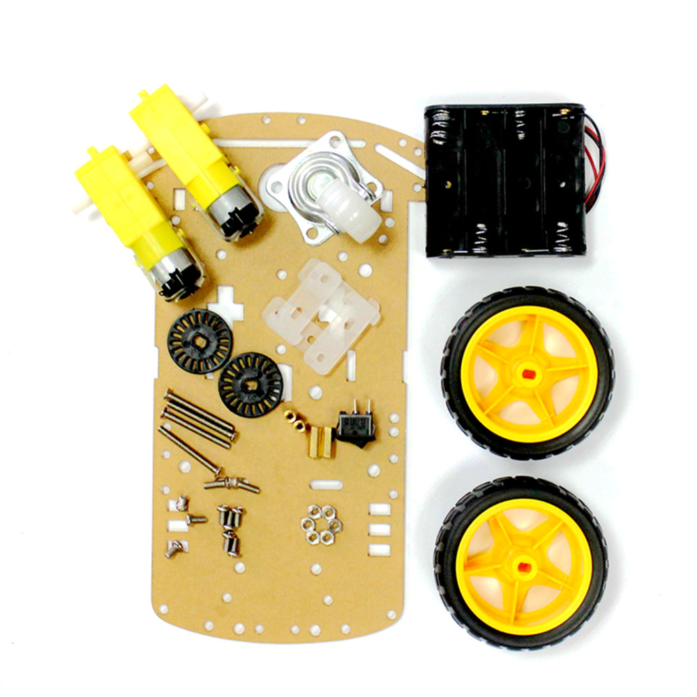 WD Motor Smart Robot Car Chassis Suite DIY Kit Speed Encoder Battery