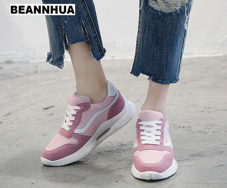 BEANNHUA 2018 new arriva running shoes for women height increasing sports shoes for lady wholesale and