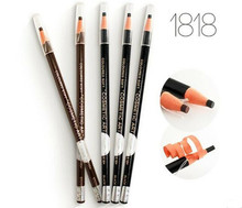 High Quality 12Pcs/ Lot  5 Colors Real Top Long-lasting Full Laser Cosmetic Art Eyebrow Pencil By Free Shipping