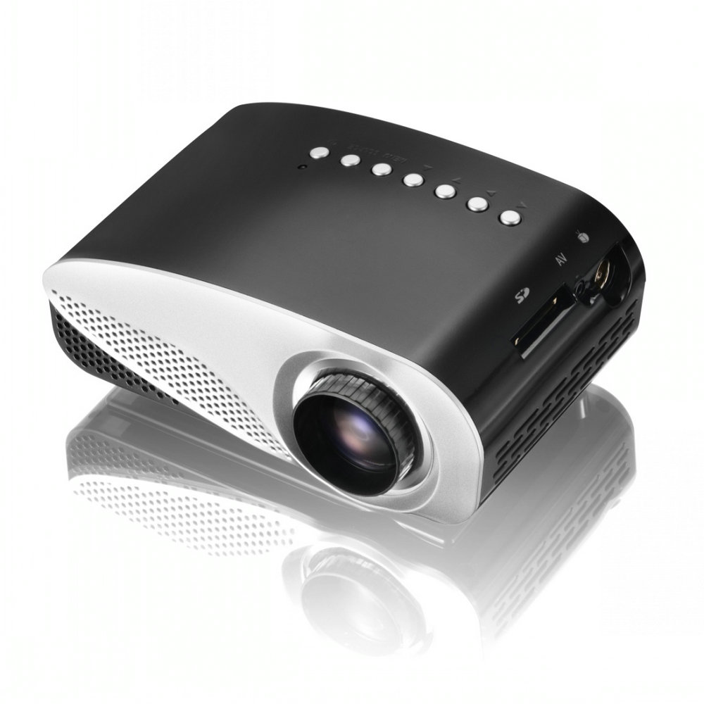RD802 Mini LED Projector Portable Pocket Proyector Full HD Projetor Home Theater Proyectores Video Games AV TV VGA HDMI
