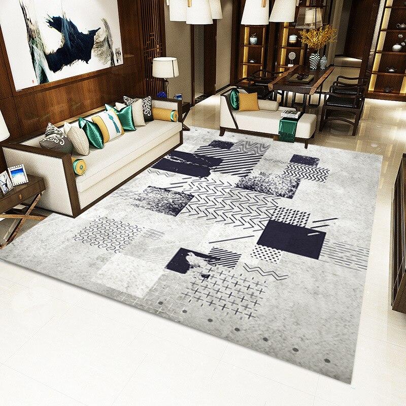 Moderne minimaliste salon tapis nordique ins motif géométrique tapis de sol maison tapis salon sol tapis - 2