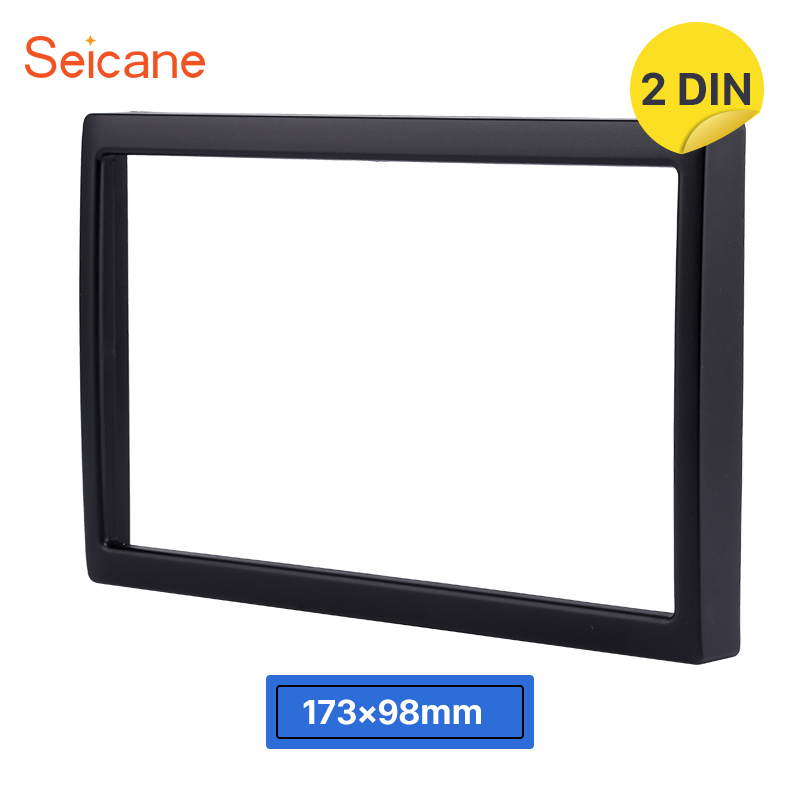 Seicane 2Din Car Radio Fascia for 2002 Mazda Family Auto Stereo Installation DVD Player Trim Panel Kit Frame