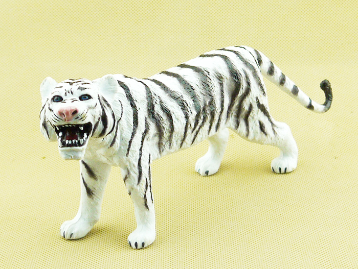 America AAA genuine (bulk) simulation of wild animal toy model white tiger toy tiger