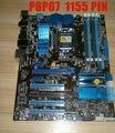 For Asus P8P67 100% original motherboard Socket LGA 1155 DDR3 P67 32GB for i3 i5 i7 CPU Desktop motherboard Free shipping