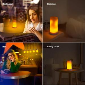 Image 3 - LED Flame Effect Fire Light Bulb Waterproof Outdoor Indoor Flickering Emulation 3 Modes Magnetic Led Flame Lamp USB Rechargeable