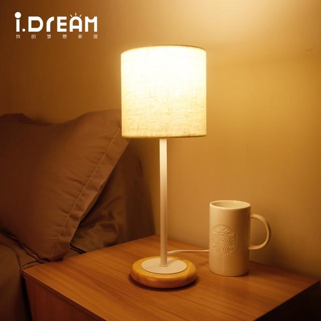 Loft lampade in legno lampada da tavolo vintage ac 110 v 220 v per soggiorno camera da letto - Lampade per comodino letto ...