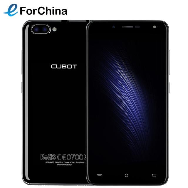 CUBOT Rainbow 2 Android 7.0 OS 16GB ROM 1GB RAM 5.0 inch MTK6580A Quad-Core 1.3 GHz OTG Dual SIM 3G WCDMA 2 Back Cameras 13.0MP