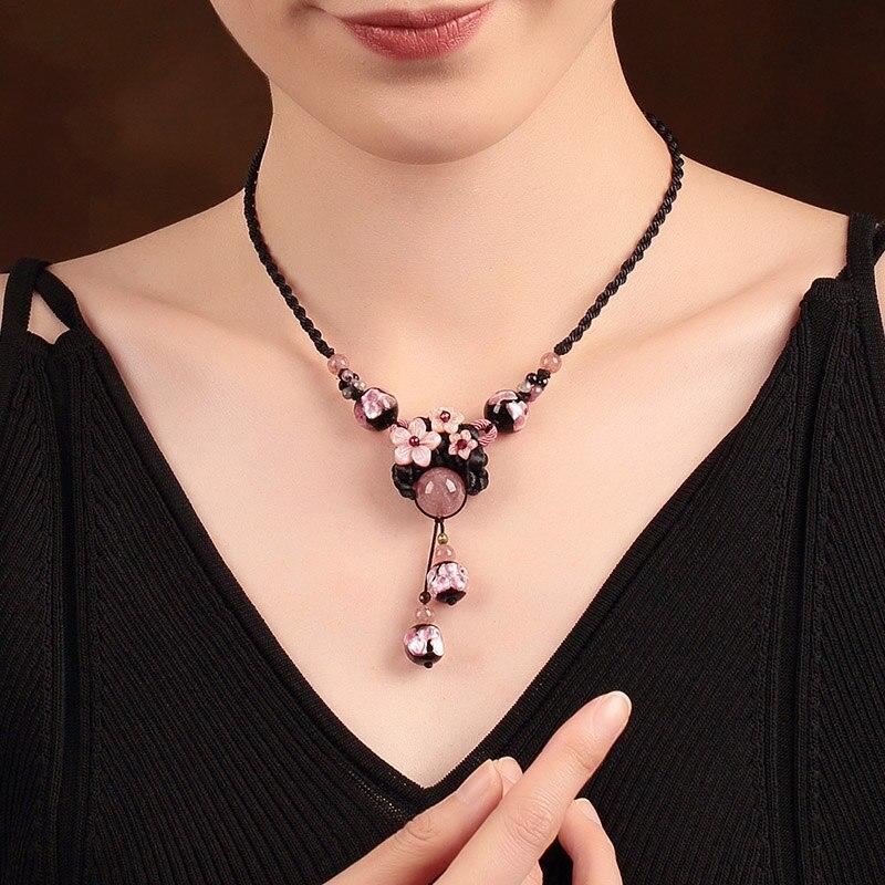 Choker Necklace Women Collier Femme Vintage Jewelry Natural Stones Necklaces & Pendants Bijoux 2018-in Pendant Necklaces from Jewelry & Accessories    1